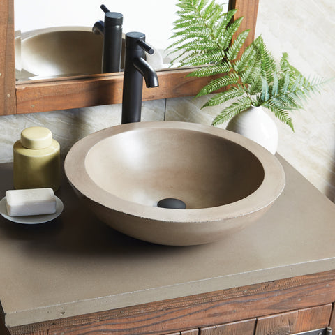 "Native Trails 30"" Native Stone Vanity Top in Earth- Vessel with Single Hole Cutout, NSV30-EV1"
