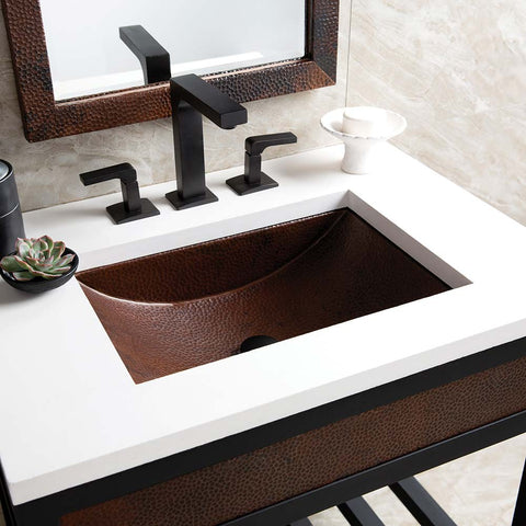 "Native Trails 30"" Native Stone Vanity Top in Pearl- Rectangle with 8"" Widespread Cutout, NSV30-PR"