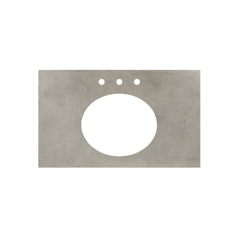 "Native Trails 36"" Native Stone Vanity Top in Ash- Oval with 8"" Widespread Cutout, NSV36-AO"