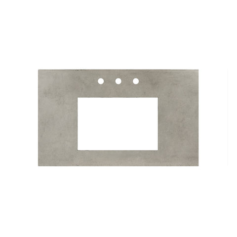 "Native Trails 36"" Native Stone Vanity Top in Ash- Rectangle with 8"" Widespread Cutout, NSV36-AR"