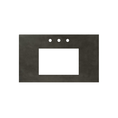 "Native Trails 36"" Native Stone Vanity Top in Slate- Rectangle with 8"" Widespread Cutout, NSV36-SR"