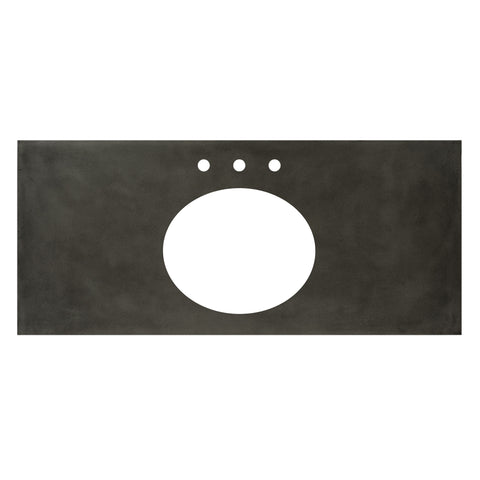 "Native Trails 48"" Native Stone Vanity Top in Slate- Oval with 8"" Widespread Cutout, NSV48-SO"
