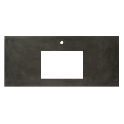"Native Trails 48"" Native Stone Vanity Top in Slate- Rectangle with Single Hole Cutout, NSV48-SR1"