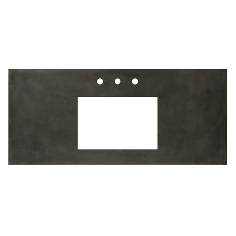 "Native Trails 48"" Native Stone Vanity Top in Slate- Rectangle with 8"" Widespread Cutout, NSV48-SR"