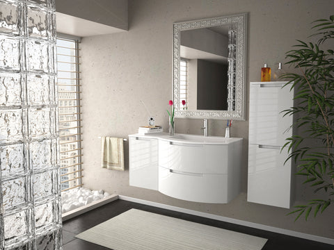 "Latoscana 53"" Modern Bathroom Vanity, Left Side Cabinet, Oasi Series, OA53OPT3 - The Sink Boutique"