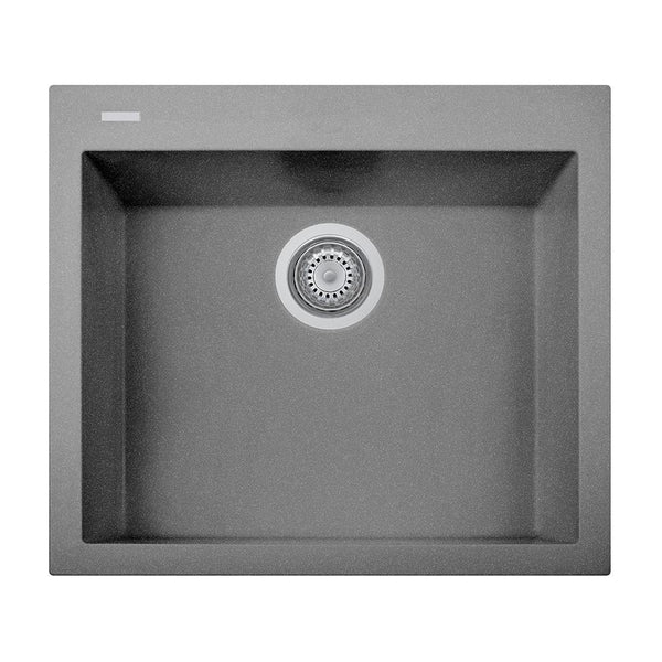 "Latoscana Plados 23"" Drop-in Single Bowl Kitchen Sink, Silver, ON6010-42"