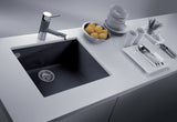 "Latoscana Plados 23"" Undermount Single Bowl Kitchen Sink, Black, ON6010ST-44 - The Sink Boutique"