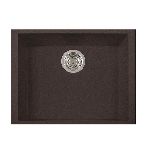 "Latoscana Plados 23"" Undermount Single Bowl Kitchen Sink, Brown, ON6010ST-64"
