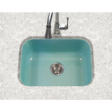 "Houzer 23"" Porcelain Enamel Steel Undermount Single Bowl Kitchen Sink, Green, PCS-2500 MT - The Sink Boutique"