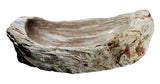 "33"" Petrified Wood Stone Vessel Sink, Taupe - The Sink Boutique"