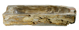 "30"" Petrified Wood Stone Vessel Sink, Beige, Taupe - The Sink Boutique"
