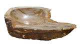 "28"" Petrified Wood Stone Vessel Sink, Brown - The Sink Boutique"