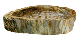"29"" Petrified Wood Stone Vessel Sink, Beige, Brown - The Sink Boutique"