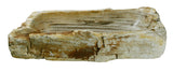 "28"" Petrified Wood Stone Vessel Sink, Rectangle, Beige - The Sink Boutique"