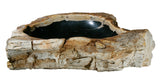 "30"" Petrified Wood Stone Vessel Sink, Black - The Sink Boutique"