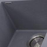 "Nantucket Sinks Plymouth 16"" Granite Composite Bar Sink, Titanium, PR1716-TI"