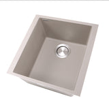 "Nantucket Sinks Plymouth 16"" Granite Composite Bar Sink, Truffle, PR1716-TR"