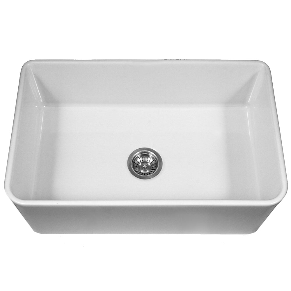Houzer Platus 33 Farmhouse Apron Fireclay Kitchen Sink Ptg 4300 Wh The Sink Boutique