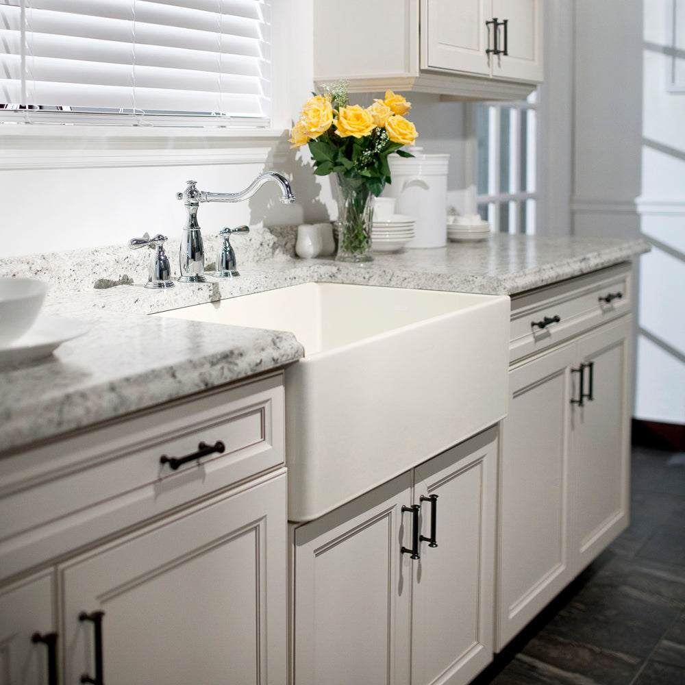 Houzer 30 Fireclay Farmhouse Apron Kitchen Sink Biscuit Pts 4100 Bq The Sink Boutique
