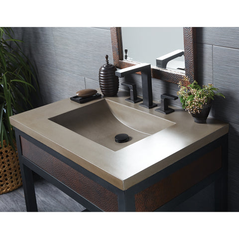 "Native Trails 30"" Palomar Vanity Top with Integral Sink in Earth - 8"" Widespread Cutout, NSVNT30-E"