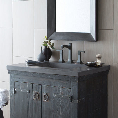 "Native Trails 30"" Palomar Vanity Top with Integral Sink in Slate - 8"" Widespread Cutout, NSVNT30-S"