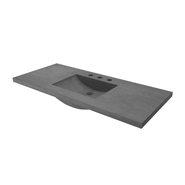 "Native Trails 48"" Palomar Vanity Top with Integral Sink in Slate - 8"" Widespread Cutout, NSVNT48-S"