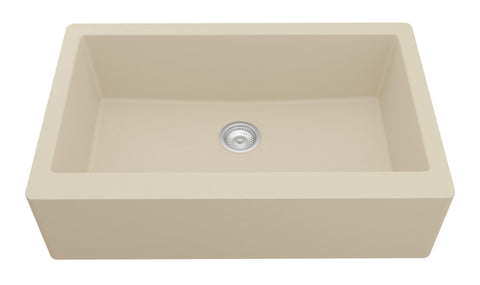 "Karran 34"" Quartz Farmhouse Sink, Bisque, QA-740-BI"