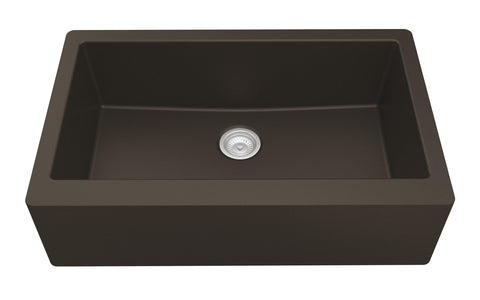 "Karran 34"" Quartz Farmhouse Sink, Brown, QA-740-BR"