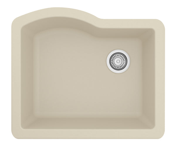 "Karran 24"" Quartz Kitchen Sink, Bisque, QU-671-BI"