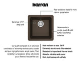 "Karran 17"" Quartz Kitchen Sink, Brown, QU-690-BR"