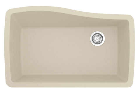 "Karran 34"" Quartz Kitchen Sink, Bisque, QU-722-BI"