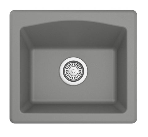 "Karran 18"" Quartz Bar/Prep Sink, Grey, QX-680-GR"