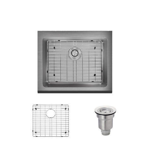 "Rene 24"" Stainless Steel Farmhouse Sink, 16 Gauge, R1-3004-16"