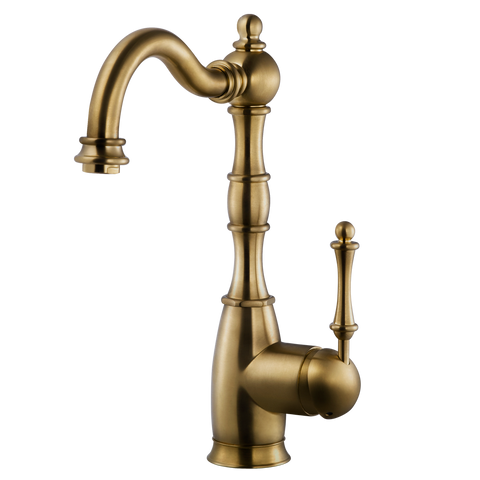 Houzer Regal Solid Brass Bar Faucet Antique Brass, REGBA-160-AB