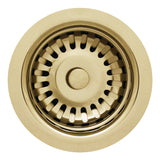 Whitehaus 3 1/2'' Fireclay Sink Brass Basket Strainer, RNW35 - The Sink Boutique