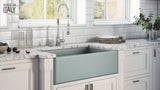 "Ruvati Fiamma 33"" Fireclay Farmhouse Sink, Horizon Gray, RVL2300GR"