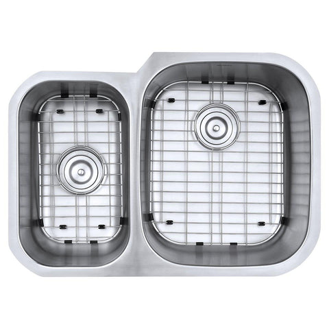 "Ruvati Parmi 29"" Undermount Stainless Steel Kitchen Sink, 40/60 Double Bowl, 16 Gauge, RVM4505"