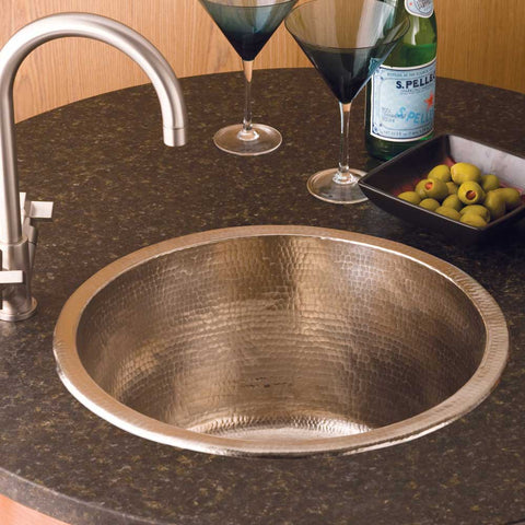 "Native Trails Redondo Grande 18"" Nickel Bar/Prep Sink, Brushed Nickel, CPS551"