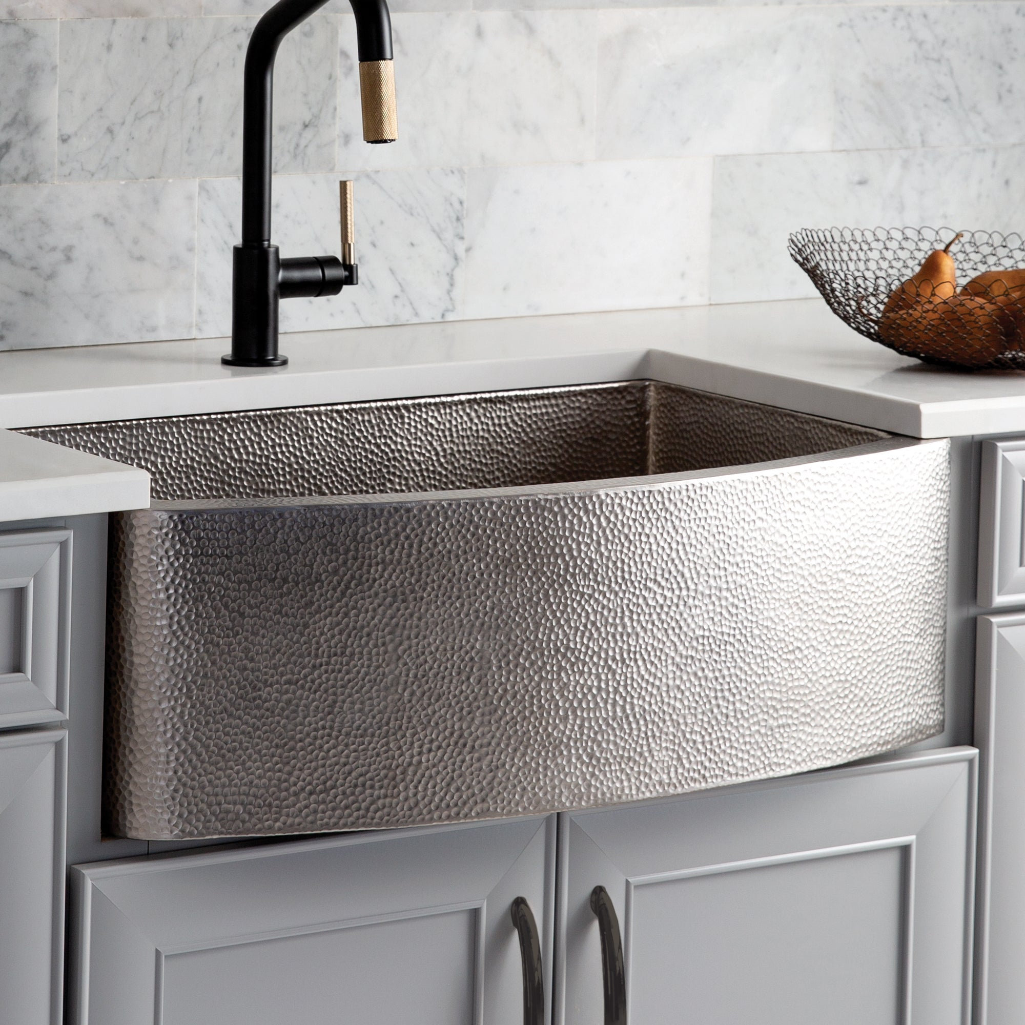 Native Trails Rhapsody 33 Nickel Farmhouse Sink Brushed Nickel Cpk5 The Sink Boutique