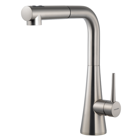 Houzer Soma Pull Out Kitchen Faucet Brushed Nickel, SOMPO-665-BN
