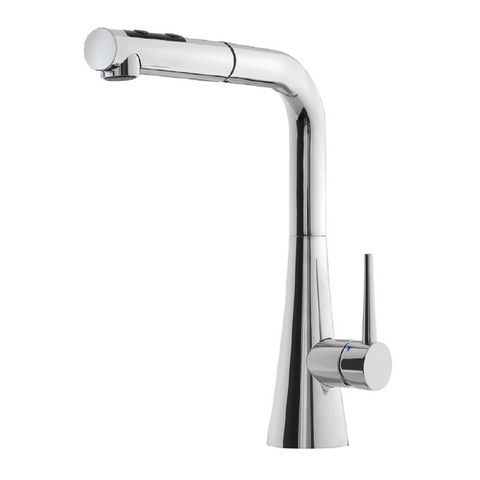 Houzer Soma Pull Out Kitchen Faucet with CeraDox Technology Polished Chrome, SOMPO-665-PC