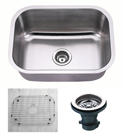 "Empire Industries Premium 23"" Stainless Steel Kitchen Sink, 18 Gauge, S-2C"