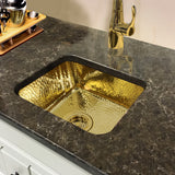 "Nantucket Sinks Brightwork Home 17"" Brass Bar Sink, SQRB-7"
