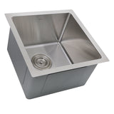 "Nantucket Sinks Pro Series 15"" Stainless Steel Bar Sink, SR1515"