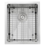 "Nantucket Sinks Pro Series 15"" Stainless Steel Bar Sink, SR1815"