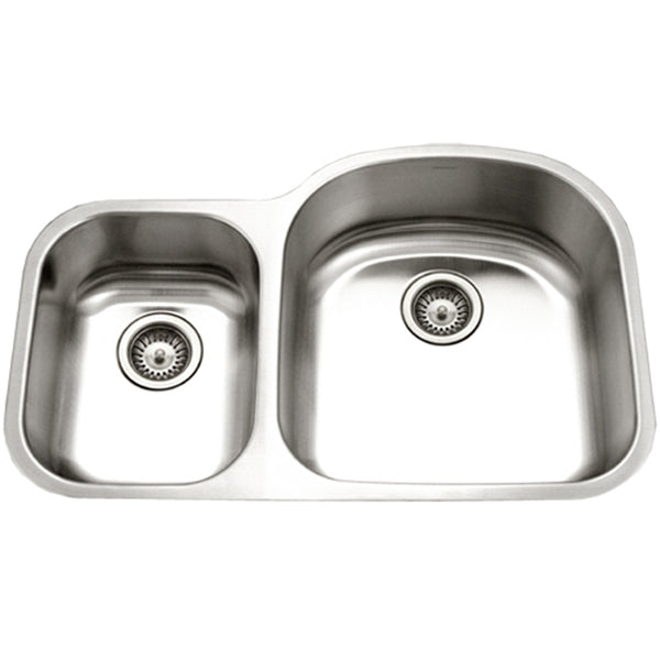 "Houzer 32"" Stainless Steel Undermount 70/30 Double Bowl Kitchen Sink, STC-2200SL-1"
