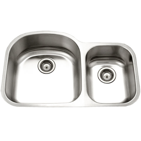"Houzer 32"" Stainless Steel Undermount 70/30 Double Bowl Kitchen Sink, STC-2200SR-1"