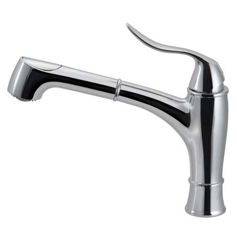 Houzer Surge Pull Out Kitchen Faucet with CeraDox Technology Polished Chrome, SURPO-571-PC