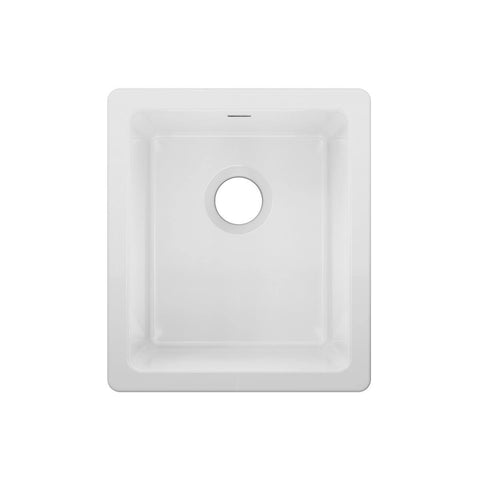 "Elkay 16"" Fireclay Bar Sink, White, SWU1517WH"