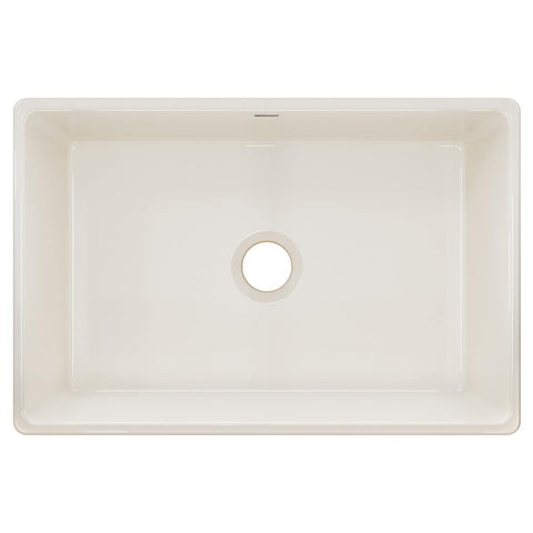 "Elkay 30"" Fireclay Farmhouse Kitchen Sink, Biscuit, SWUF28179BI"